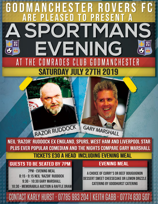 20190508 Neil Razor Ruddock Evening Poster